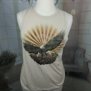Icons of Culture Eagle Graphic Sequin Tank